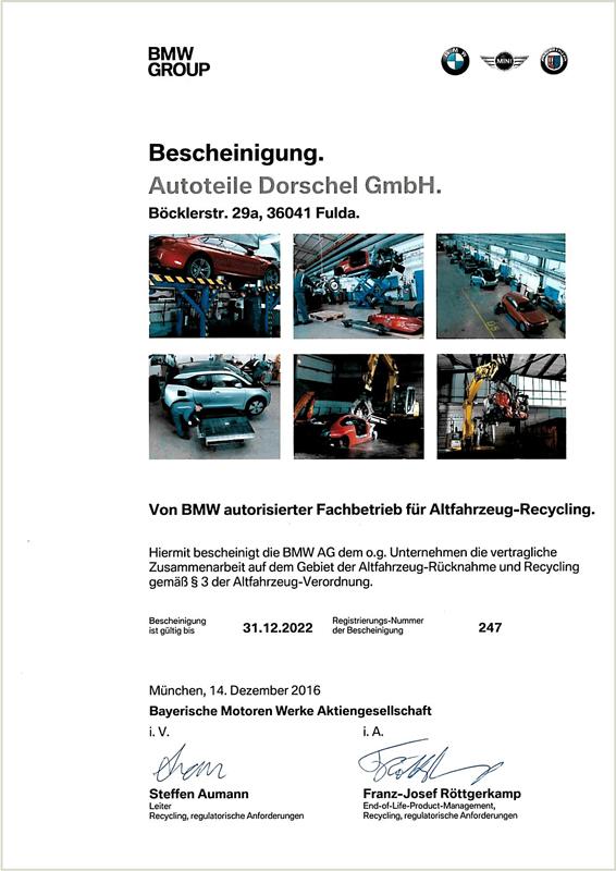 Autoteile Dorschel: zertifizierte Autoverwertung und ...